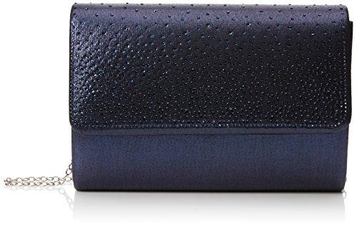 Swanky Swans Damen Lesley Clutch, Blau (Navy Blue), 5x14x21 cm