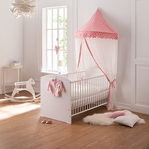 howa wand baldachin betthimmel f r kinderzimmer hannah rosa wei 8506. Black Bedroom Furniture Sets. Home Design Ideas