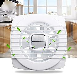 HITSAN Pull Rope White Mini Fan Extraction Ventilation Wall Kitchen Bathroom Toilet Fan Hole One Piece