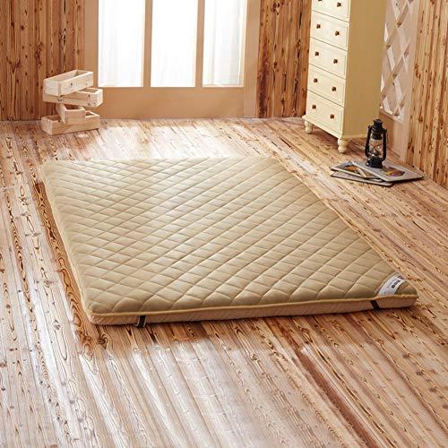 EEvER Schlafmatte Bequeme Matratze Verdickte Tatami-Fußmatte, Traditioneller japanischer Futon Queen-Size, Einzelgröße-A 150x200cm (59x79 Zoll) (Farbe : B, Größe : 120x200cm(47x79inch))
