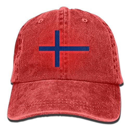 Preisvergleich Produktbild Caps big Rote Blaue Flagge von Norwegen-Mode-Denim-Baseball-justierb... Kappen-Hüten