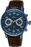 Reloj Radiant para Hombre con Correa Marron y Pantalla en Azul RA444607