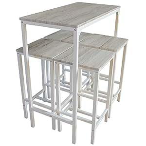 Set tavolo e 4 sgabelli arredamento bar cucina mod for Amazon arredamento