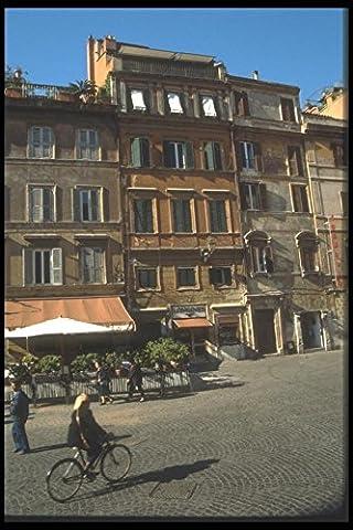 111070 Buildings At Piazza Santa Maria In Trastevere Rome A4 Photo Poster Print 10x8