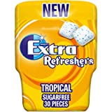 Extra Refreshers Chewing Gum, Sugar Free, Tropical Flavour, 30 Pieces