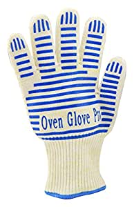 Zotoon Oven Glove Withstand Heat up to 662F - Comfortable Five Fingered Flexi-Grip for Left or Right Hand - Great for the kitchen,barbeque & other hot surfaces -The Best Oven Mitt & Grill Gloves in the market - Specialty for Amazon by Zotoon