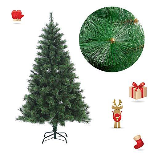 Froadp 210cm Künstlicher Grün Tannennadeln Weihnachtsbaum Tannenbaum Kiefernadel (Grün Tannennadeln, 210cm)