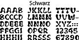 Bambinella Buchstaben zum selbst Aufbügeln aus Velour/Flock - ABC und Ziffern (wie abgebildet) - Höhe: ca. 2,4 cm - Made in Germany
