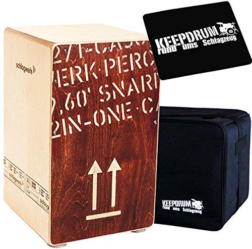 Schlagwerk CP404RED Cajon Red Edition + keepdrum Gig Bag + Sitzpad