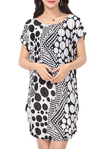 Lose Floral lässige T-Shirt Kleid für Damen 15