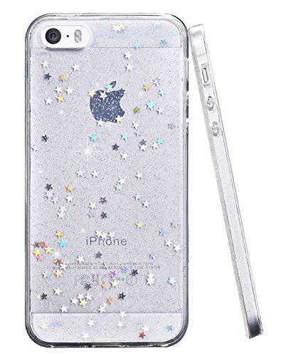 iPhone 5Fall, iPhone 5s SE Slim Case, baisrke Bling Glitzer Sparkle klar transparent Soft TPU Bumper Back Cover Case für iPhone 55S SE-Klar, farblos (Fällen Bling Iphone5)