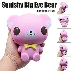 Squishy Toys Big W : Jumbo Cartoon Big Eye Bear Stress Reliever, Squishy Slow Rising Squeeze Toys Charm Phone Strap ...