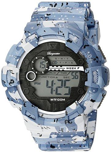 Burgmeister Armbanduhr für Herren mit Digital Anzeige, Chronograph mit Kunststoff Armband - Wasserdichte Herrenarmbanduhr mit zeitlosem, schickem Design - klassische für Männer - BM803-023 Halifax
