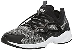Reebok Mens Fury Adapt MA Fashion Sneaker, Black/Alloy/White, 10.5 M US