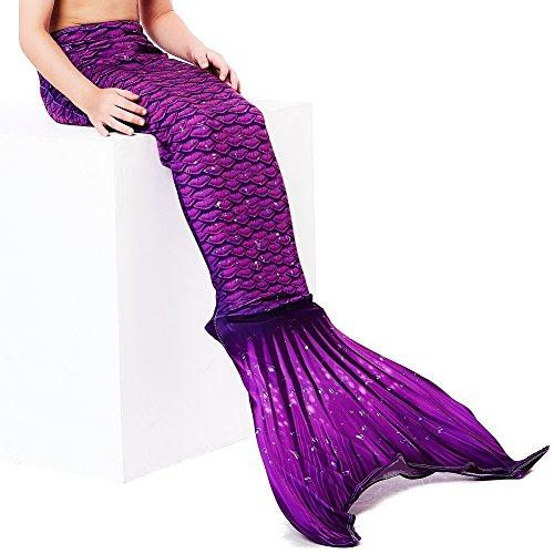 Play Tailor Mädchen Gemalt Meerjungfrau Kostüm Meerjungfrauenschwanz für Kinder Schwimmen(Ohne (Kostüme Meerjungfrau Frauen)
