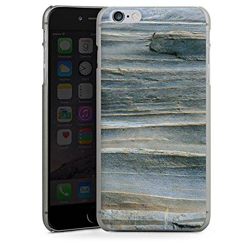 Apple iPhone X Silikon Hülle Case Schutzhülle Grauer Sandstein Fels Stein Hard Case anthrazit-klar