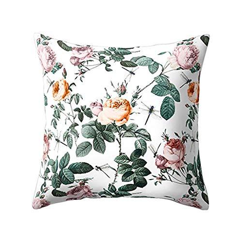 Kissenbezuge Yesmile Kissenhülle Dekokissen Blume Pflanze Bettwäsche Fall Throw Pillow Covers Für Autos Sofakissen...