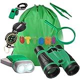 UTTORA Kit de Binoculares para Niños, Kit de Exploración para Niños...