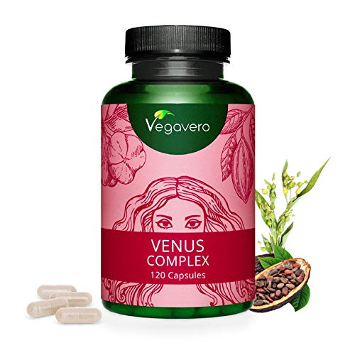 VEGAVERO® Venus Complex | Haut - Haare - Nägel | HOCHDOSIERT | Biotin, Silizium, Zink | Mit der Aminosäure L-Methionin | Vegan | Ohne Zusatzstoffe | Vitamin B Komplex | 120 Kapseln