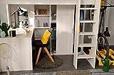 Wohnorama 90x200 Hochbett inkl integrierter Schreibtisch u Schrank Higher 1b von Parisot Nordische Esche by - 6