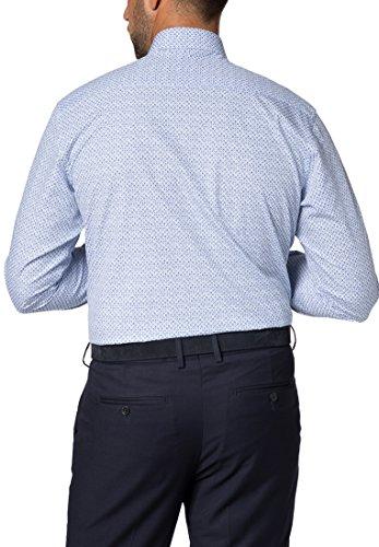 Eterna long sleeve Shirt MODERN FIT Poplin printed Blu/Bianco