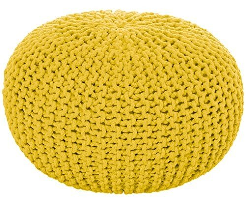 Sitzwürfel Kinder Bürohocker Designer Hocker Pouf Sofa Hocker 55cm Hocker Gelb