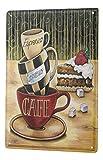 Cartel de chapa Placa metal tin sign Fun Cocina Decoración Café Espresso Cappuccino Letrero De Metal 20X30 cm