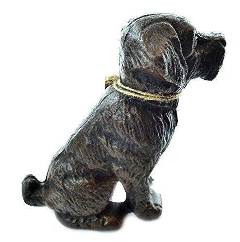Lulu Decor, Gusseisen Hund Tür Stopper, Türkeile, Skulptur, Hund Statue Vintage Black 4.4 lbs