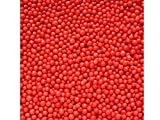 85g Edible Red 100s and 1000s Hundreds and Thousands Non Pareils 1.5mm Mini Sugar Balls Pearls Sprinkles Cup Fairy Birthday Cake Decorations Toppers Comic Sports Relief Red Nose Day BBC Children in Need