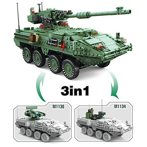 Yyz Militär Serie Stryker Panzer Panzerwagen setzen kleine Partikel Bausteine Kinderspielzeug Geburtstagsgeschenke