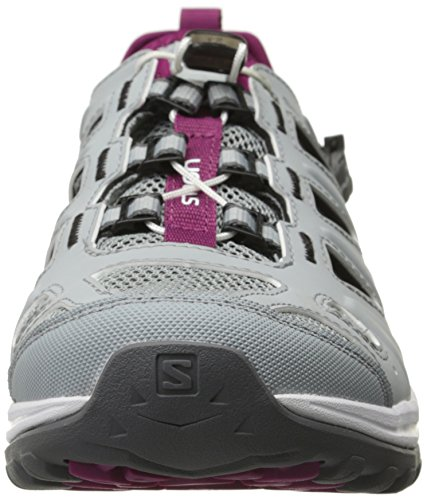 Salomon Ellipse Cabrio, Chaussures de sport femme Gris / Blanc / Violet (Light Onix/White/Mystic Purple)