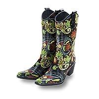 Paisley Vibe Cowboy Wellies - Talolo Boots