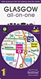 Glasgow All-On-One Map: Walk Cycle Bus Train Taxi Subway and City Centre