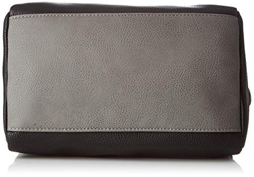 Le Temps des Cerises Elegance_Ltc935c, Borsa Bowling Donna, 13 x 22 x 27 cm (W x H x L) Noir (Noir / Gris)