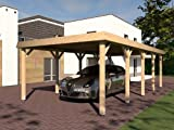Walmdach Carport ASSEN I 400x800 cm KVH Konstruktionsvollholz