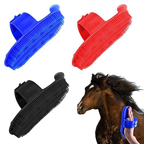 Yunt zoccoli con pennello, pratico e durevole cavalli zoccoli di cavallo e spazzole (colore casuale inviato)