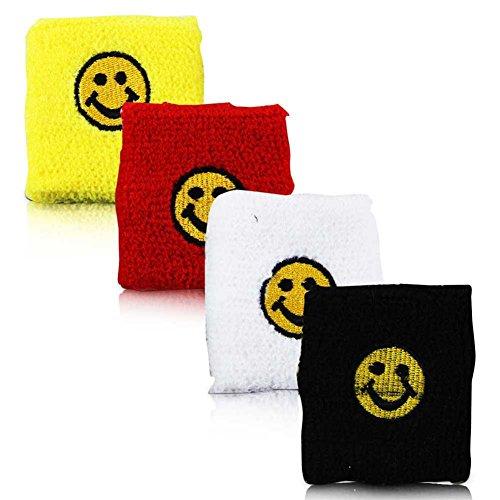 12 x HC-Handel 911608 Schweißband Smileygesicht sortiert