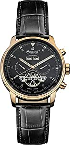 Ingersoll Men's Automatic Watch with Black Dial Analogue Display and Black Leather Strap IN4511RBK