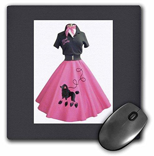 0,3x 0,6cm Maus Pad, Retro Pink Pudel Rock (MP 37278_ _ 1) (Pudel Für Pudel Rock)