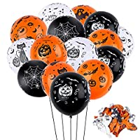 Faburo 50pcs Halloween Balloons Halloween Indoor Decorations Balloons for Halloween Theme Party