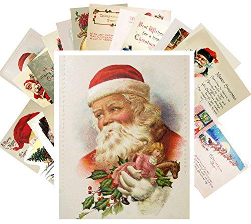 Vintage Christmas Postkarten 24pcs Antique Santa and Kids Christmas Wishes Cards REPRINT Postcard Set Weihnachten