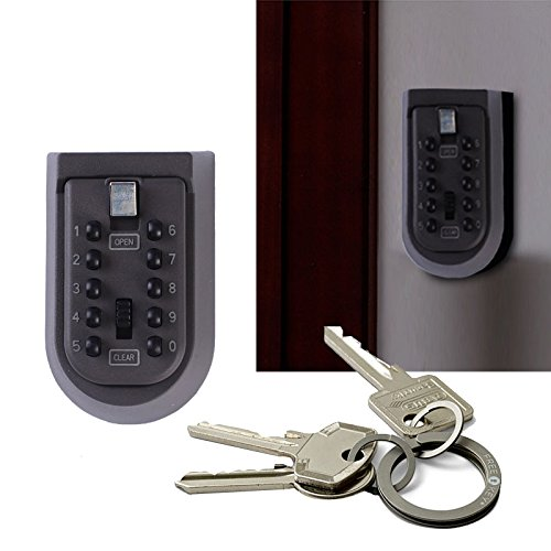 Giantree Indoor Outdoor Wand Montiert Push Button Digital Key Storage Sicherheitsschloss mit Außen Wasserdichte Abdeckung und Montage Kit Key Storage Lock Box (Lock-boxen Key Storage)