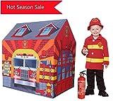 YGJT Spiele Zelt Kind langlebig Anti-Flammen Spielhaus Garten Zelt Spielhaus mit Geschenkbox für Jungen Jungen Indoor und Outdoor Spielzeug für 1-8 Jahre Kinder (Löschfahrzeug)