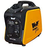 Wolf Leisure Power Genie WPG1200 1200 Watt, 4HP Quiet Portable 4 Stroke Petrol Inverter Digital Generator – Ideal for Camping Caravan & Back-Up Power – Low Oil Level Sensor – Thermal Overload Protection – Economy Switch Fuel Saving – 2 Year Warranty
