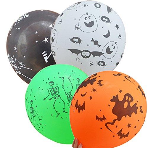 Halloween Ballon Luftballons Szene verkleiden Geburtstagsfeier Ball dekorative Ballon Dicker Ballon Schädel Kürbis Muster Ballon Spielzeug Makeup Cosplay Halloween Maskerade (Globe Kostüm Muster)