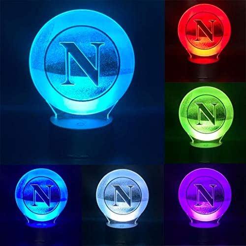 Calcio Napoli lampada led da tavolo notturna arredo decorazione cameretta bambino