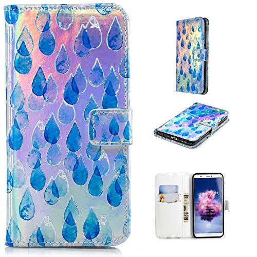 Klassikaline Coque Huawei P Smart, Étui en Cuir Huawei P Smart, Housse en Cuir pour Huawei P Smart - Larme
