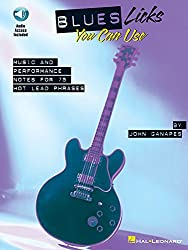 Blues Licks You Can Use Tab Book/Cd