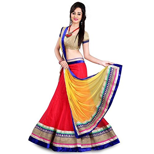 Womens Top & Tunic Latest New Style Ethnic Wear Collection Todays Best Deal Special Offer All Type Of Modern Georgette Red Lehenga Choli
