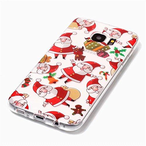 iPhone 6 cover,TXLING Glänzend Glitzer Crystal Case Hülle Klare Ultradünne Silikon Gel Schutzhülle Durchsichtig Kristall Transparent TPU Silikon Bumper Schutz Handy Hülle Case Tasche Etui für iPhone 6 C03 Weihnachtsmann